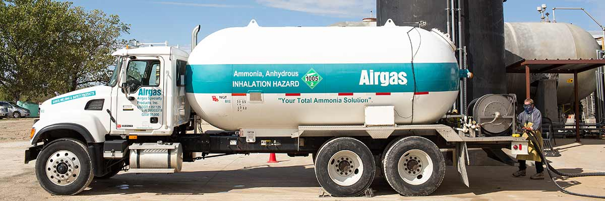 Airgas delivery truck at top of Technical Library page